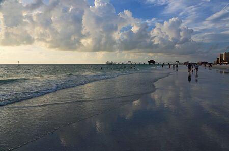 Walking on Clearwater beach, Florida