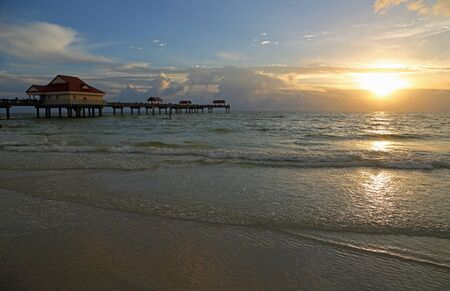 The pier and the sunset, Florida Imagens