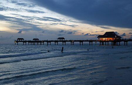 The pier after sunset, Florida