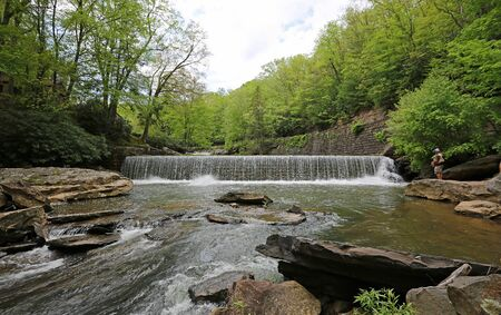 Fishing on the waterfall, Babcock SP, West Virginia