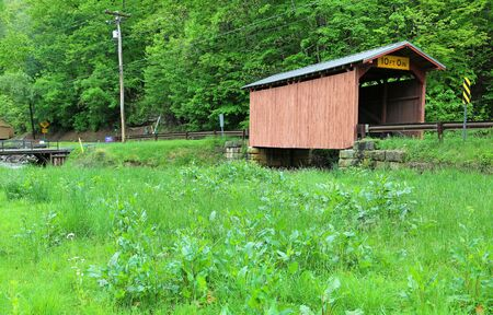 Landscape with Fish Creek covered bridge, WV
