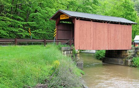 Side view at Fish Creek covered bridge, West Virginia