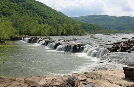 New River cascades, West Virginia