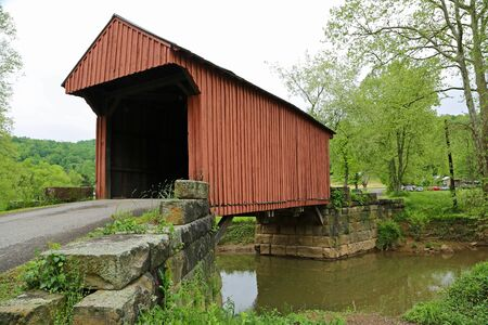 West Fork River and Walkersville covered bridge, West Virginia