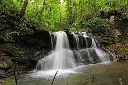 Romantic Upper Falls, West Virginia Reklamní fotografie