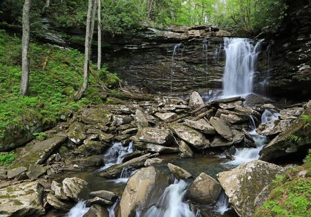 View at Middle Falls, West Virginia Reklamní fotografie