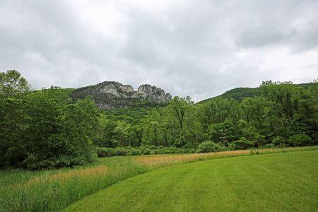 Panorama with Seneca Rocks, West Virginia