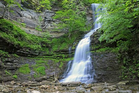 Cathedral Falls, West Virginia Reklamní fotografie
