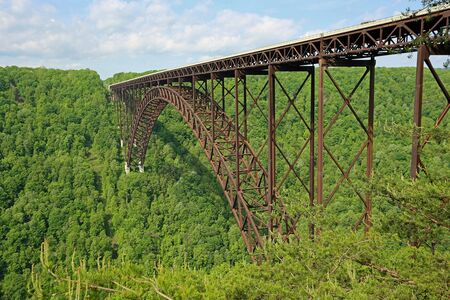 Side view at New River gorge bridge, West Virginia