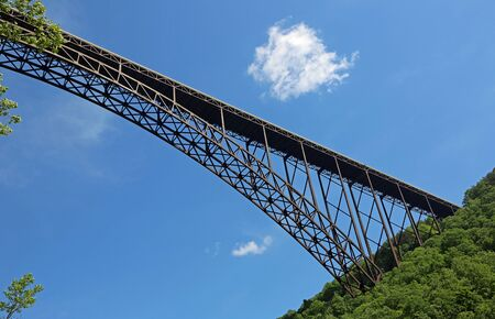 New River gorge bridge on blue sky, West Virginia Reklamní fotografie