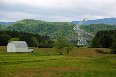 View at Green Bank Telescope, West Virginia Reklamní fotografie