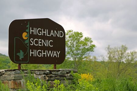 Highland scenic highway sign, West Virginia
