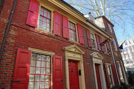 Red shutters, Philadelphia