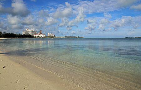 Walking on Goodman Bay, Bahamas