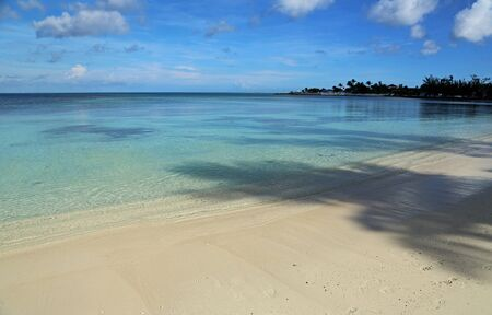 The beach on Goodman Bay, Bahamas