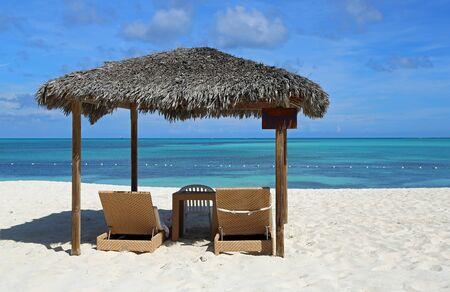 Relax on the beach, Bahamas Stok Fotoğraf