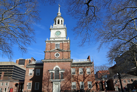 The tower of Independence Hall, Philadelphia
