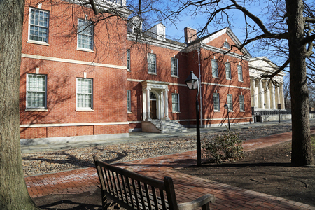 View from the park at American Philosophical Society, Philadelphia Editöryel