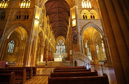 The sanctuary in St Mary's Cathedral, Sydney