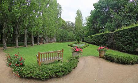Romantic garden landscape - The Ashcombe Maze and Lavender Gardens, Victoria, Australia
