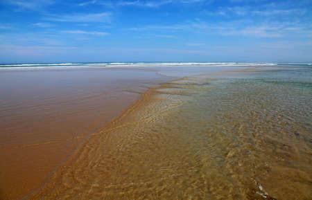 Tides on Venus Bay - Victoria, Australia 免版税图像