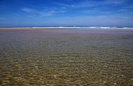 High tide on Venus Bay - Victoria, Australia 免版税图像