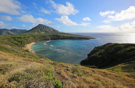Landscape with Hanauma Bay, Oahu, Hawaii 스톡 콘텐츠