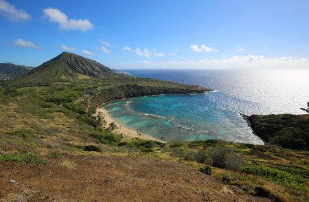 Oahu shore with Hanauma Bay, Oahu, Hawaii