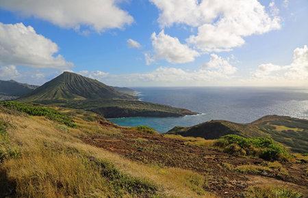 Landscape from the ridge - Hanauma Bay, Oahu, Hawaii
