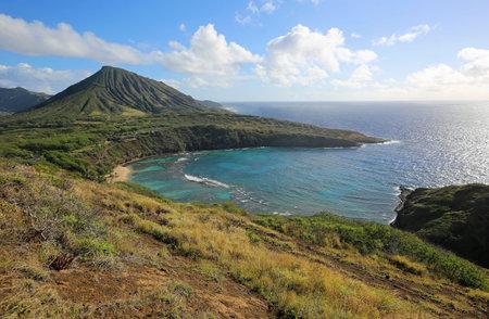 Koko crater and Hanauma Bay, Oahu, Hawaii 스톡 콘텐츠