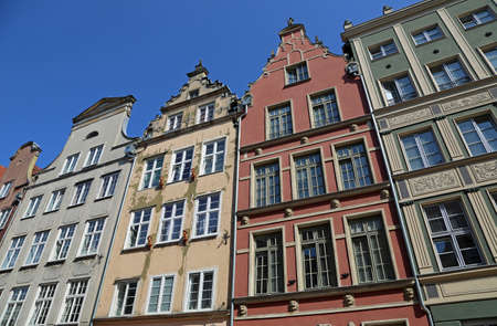Colorful Tenement in Gdansk, Poland