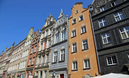Row of historic Tenement - Gdansk, Poland