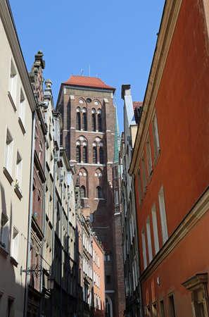 Kaletnicza Street with St Mary Church - Gdansk, Poland