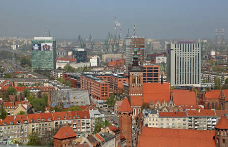 View from St Mary Church tower at Gdansk, Poland