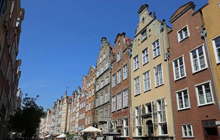 17th century street in Gdansk, Poland Archivio Fotografico