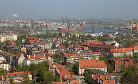View at Gdansk Shipyard , Poland