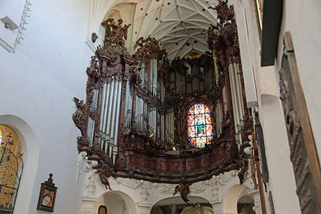 View at Great Organ - Archcathedral in Gdansk Oliwa, Poland