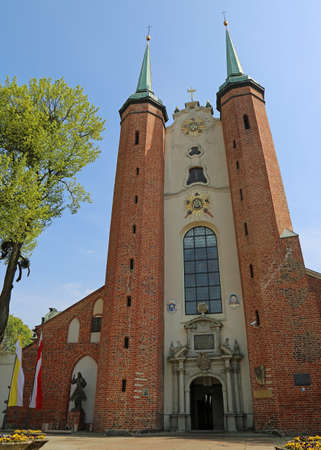Oliwa Archcathedral vertical - Gdansk Oliwa, Poland Archivio Fotografico