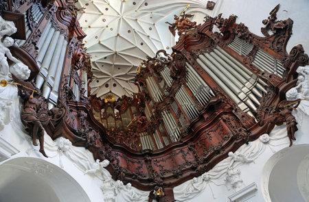 Great Organ - Archcathedral in Gdansk Oliwa, Poland Archivio Fotografico