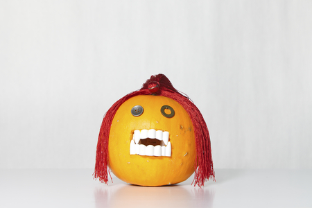 Ugly and funny pumpkin for halloween
