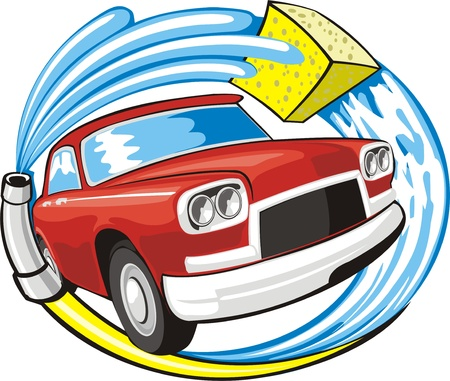 car washing sign  Vector