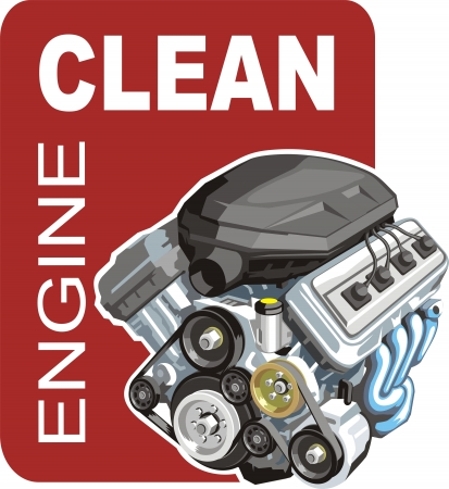 clearing: sign of the washer of the car engines Illustration