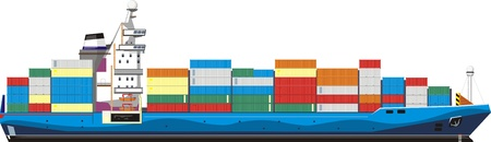 carriers: cargo ship with containers