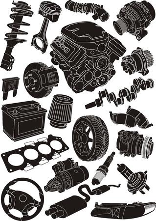 set of car part contours Stock Vector - 13764681