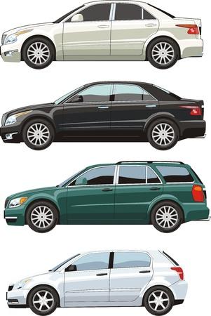 sides: four original design car sides