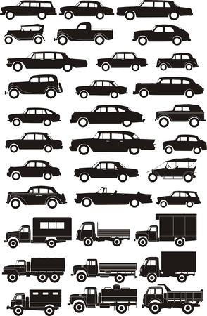 silhouetten vracht-en personenauto's
