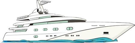 luxe zeilboot op de motor te trekken