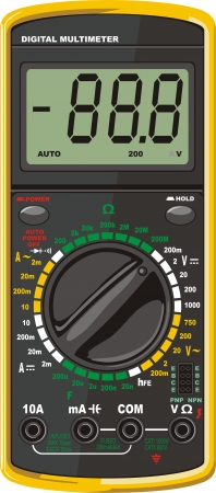 selector: Compact digital multimeter for electric circuits diagnostic