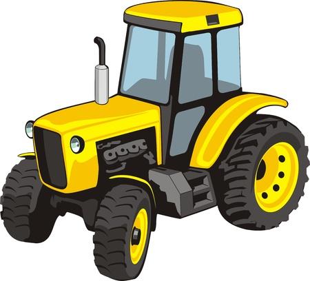 old tractor: Oude gele tractor voor de landbouw werken