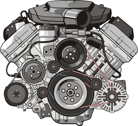 ENGINE of INTERNAL COMBUSTION FRONTAL Stock Vector - 13765083